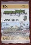 Sellos del Mundo : America : Santa_Lucía : Trenes