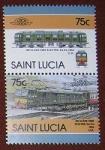 Sellos de America - Santa Lucía -  Trenes