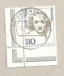 Stamps Germany -  Marlene Dietrich, actriz