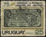 Sellos de America - Uruguay -  75 aniversario del Banco de la República Oriental del Uruguay.