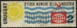 Stamps Uruguay -  2da. feria mundial de la industria en Montevideo, año 1970.
