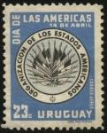 Sellos del Mundo : America : Uruguay : Día de las Américas. Organización de los Estados Americanos.