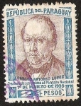 Stamps Paraguay -  CARLOS ANTONIO LOPEZ