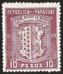 Stamps America - Paraguay -  ESCUDO DE JUAN DE SALAZAR DE ESPINOZA
