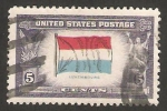Stamps of the world : United States :  466 - Bandera de Luxemburgo