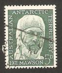 Stamps Oceania - Australian Antarctic Territory -  50 anivº de la expedición antártica australo-neo zelandesa, Sir Douglas Mawsan jefe de la expedición
