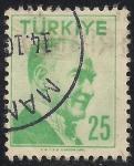 Stamps Turkey -  Mustafa Kemal Pasha- 1º Presidente de Turquia.