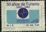 Stamps Uruguay -  50 años de turismo en Uruguay.
