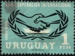 Stamps Uruguay -  1966 Año de la cooperación internacional.