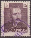 Sellos de Europa - Polonia -  Polonia 1950 Scott 478 Sello Presidente Boleslaw Bierut Usado Polska Poland Polen Pologne