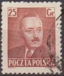 Sellos de Europa - Polonia -  Polonia 1950 Scott 482 Sello Presidente Boleslaw Bierut Usado Polska Poland Polen Pologne