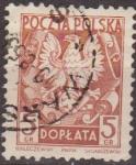 Sellos de Europa - Polonia -  Polonia 1950 Scott J116 Sello Aguila Polaca Usado Polska Poland Polen Pologne
