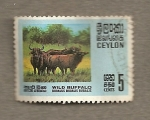 Stamps Sri Lanka -  Búfalo salvaje