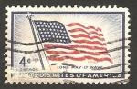 Stamps United States -  centº de la bandera
