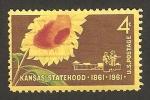 Sellos de America - Estados Unidos -  Centº del estado de Kansas
