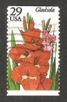 Stamps United States -  flor gladiolo