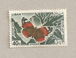 Stamps Lebanon -  Mariposa volcán