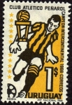 Stamps : America : Uruguay :  Club Atletico Peñarol Campeon intercontinental 1966