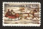 Sellos de America - Estados Unidos -  navidad, currier and ives