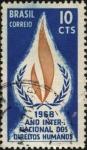 Stamps Brazil -  1968 año internacional de los derechos humanos.