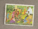 Stamps Sri Lanka -  Dia Mundial Postal 2006