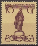 Stamps Poland -  Polonia 1955 Scott 669 Sello Nuevo Monumentos de Varsovia Feliks E. Dzerzhinski Polska Poland Polen