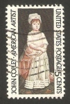 Stamps United States -  John Copley, pintor