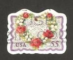 Sellos de America - Estados Unidos -  Flores en forma de corazón