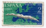 Stamps Spain -  Campeonatos Europeos de Natación
