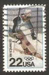 Sellos de America - Estados Unidos -  olimpiadas de invierno en calgary 88, sky