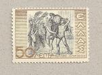 Stamps Greece -  Escena triunfal
