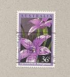 Sellos de Oceania - Australia -  Flor violeta