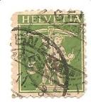 Stamps Switzerland -  correo terrestre