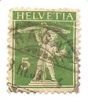 Stamps Europe - Switzerland -  correo terrestre