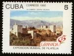 Stamps Cuba -  ESPAÑA - Alhambra, Generalife y Albaicín, Granada