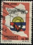Stamps Uruguay -  Escudo y contorno del Departamento San José de Mayo.