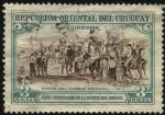 Stamps Uruguay -  100 años de la muerte del prócer ARTIGAS. Éxodo del pueblo Oriental en 1811.