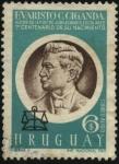 Sellos de America - Uruguay -  100 años del nacimiento de EVARISTO CIGANDA. Autor de la primera ley de jubilaciones escolares.