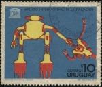 Stamps Uruguay -  UNESCO 1970 año internacional de la educación. Dibujo infantil.