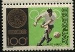 Stamps Uruguay -  Olimpíadas año 1968 en México. Futbol.
