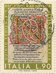 Stamps Italy -  QUINTO CENTENARIO EDIZIONE AMNTOVAHA DIVINA COMEDIA