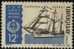 Stamps Uruguay -  Cañonera SUAREZ. 150 años de la Armada Nacional.