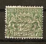 Sellos de Europa - Alemania -  Baviera / sellos de servicio
