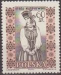 Sellos de Europa - Polonia -  Polonia 1959 Scott 891 Sello Trajes Regionales Mujer Kurpiow Usado Polska Poland Polen Pologne