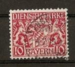 Stamps Europe - Germany -  Baviera / sellos de servicio