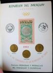 Stamps : America : Paraguay :  Monedas y Medallas del Paraguay y Olímpicas