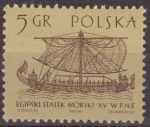 Stamps Europe - Poland -  Polonia 1963 Scott 1124 Sello ** Antiguos Barcos Barco Mercante Egipcio Siglo XV