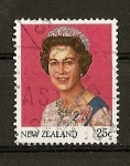 Stamps New Zealand -  Serie Basica / Isabel II