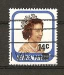Sellos de Oceania - Nueva Zelanda -  Serie Basica / Isabel II - Nuevo Valor