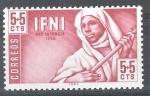 Stamps Spain -  IFNI  95. Pro infancia. Musicos indígenas.